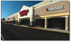 Strip Mall With Office Depot and Radio Shack