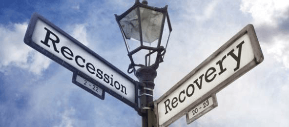 Street Sign: Recession and Recovery