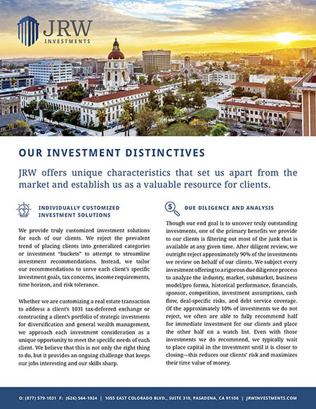 Our Investment Distinctives